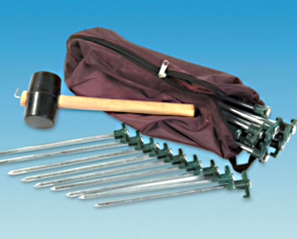 peg kit for awning or tent
