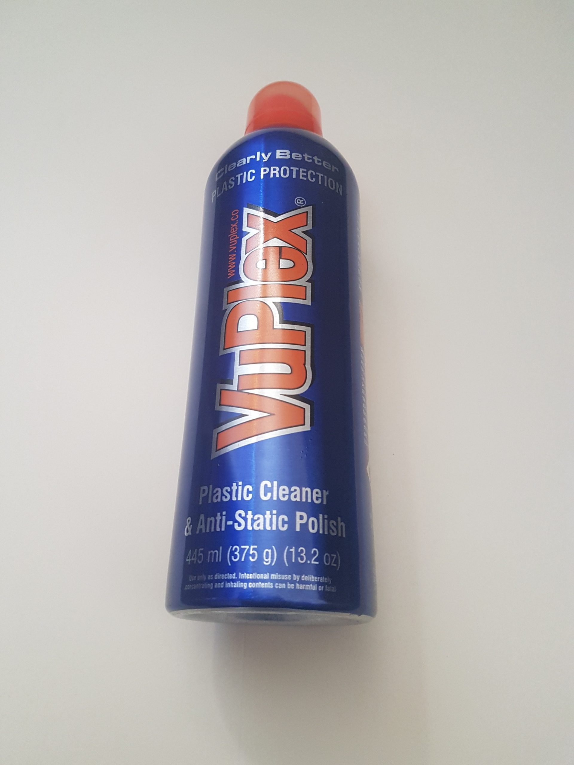 VUPLEX Plastic Cleaner & Anti-Static Polish 375g (445ml) Caravan Acrylic Window Cleaner