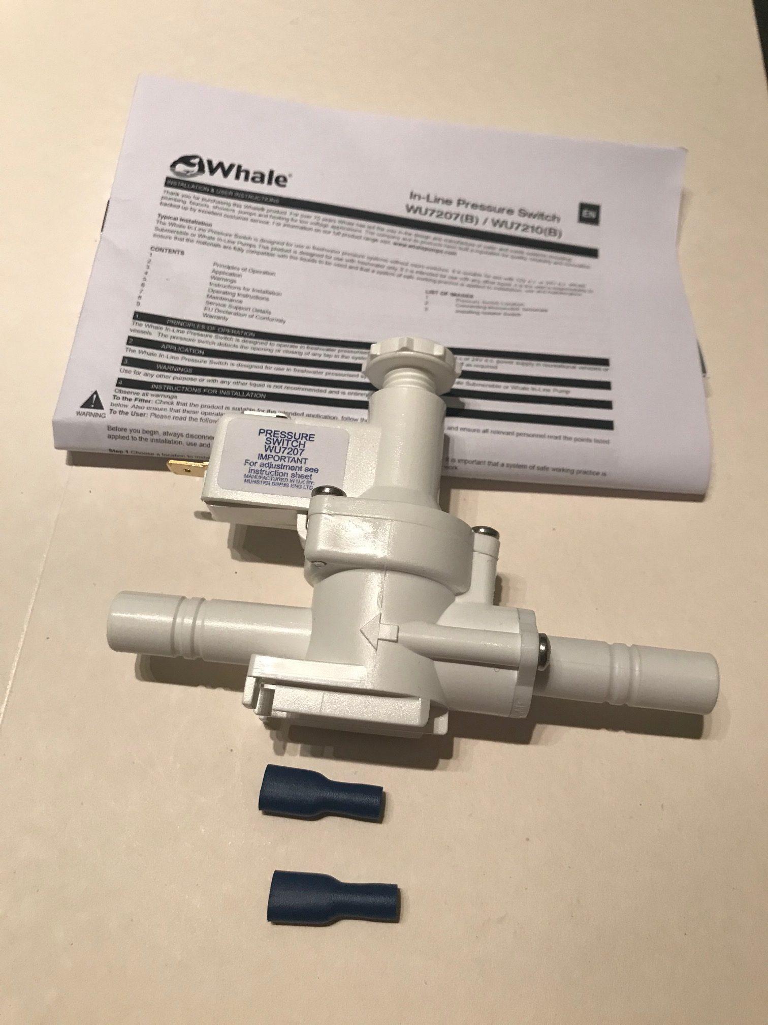 Whale Inline Pressure Switch